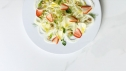 fennel and strawberry salad with fennel seed granola